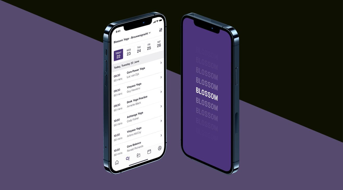 Blossom iOS and Android booking app